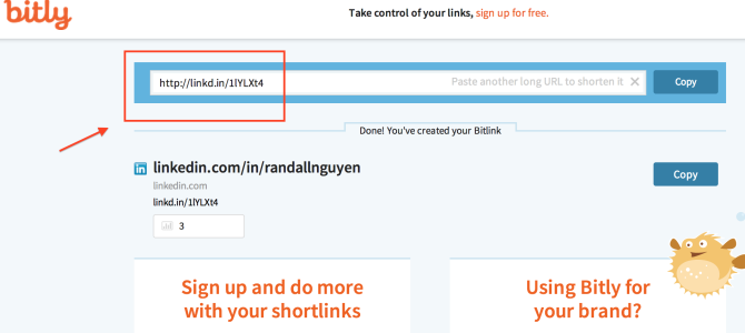 Need a shortened LinkedIn url for your resume?